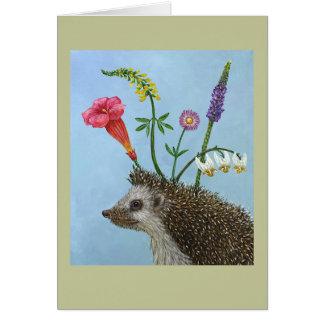 Hannah the hedgehog card