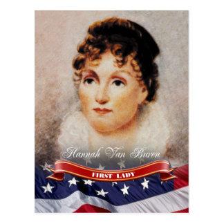 Hannah Van Buren, primera señora de los E.E.U.U. Tarjeta Postal
