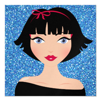 Hannah Wants a Party! -  SRF 5.25x5.25 Square Paper Invitation Card