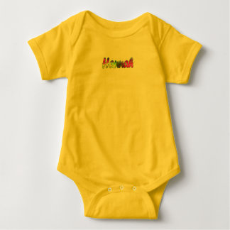 Hannah Yellow Baby Jersey Bodysuit