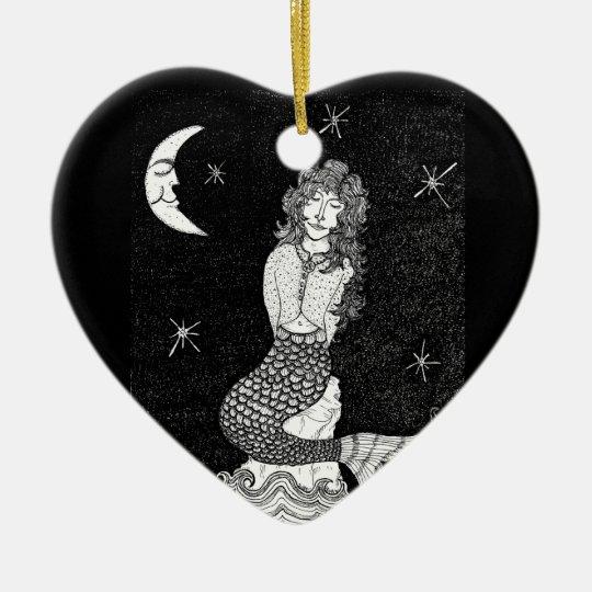Hannah's Moonlight Lullaby Ceramic Ornament