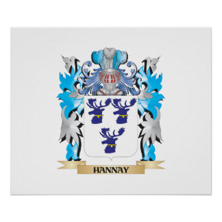 Hannay- Coat of Arms - Family Crest Posters