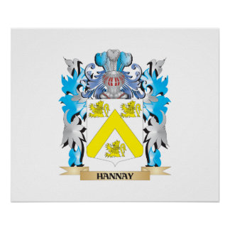 Hannay Coat of Arms - Family Crest Print