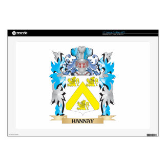 "Hannay Coat of Arms - Family Crest 17"" Laptop Decal"