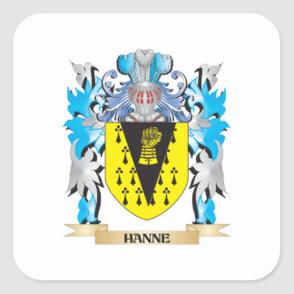 Hanne Coat of Arms - Family Crest Square Sticker