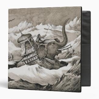 Hannibal (247-c.183 BC) and his war elephants cros 3 Ring Binder