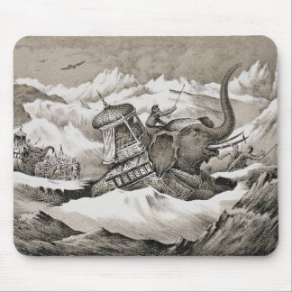 Hannibal (247-c.183 BC) and his war elephants cros Mouse Pad