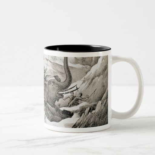 Hannibal (247-c.183 BC) and his war elephants cros Mugs