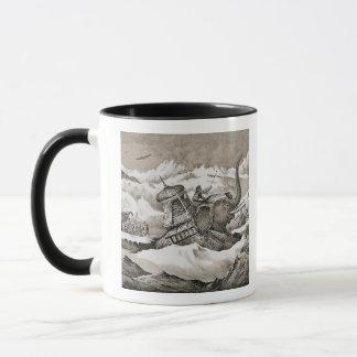 Hannibal (247-c.183 BC) and his war elephants cros Mug