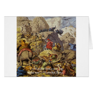 Hannibal Barca & Army & Quote Gifts & Cards
