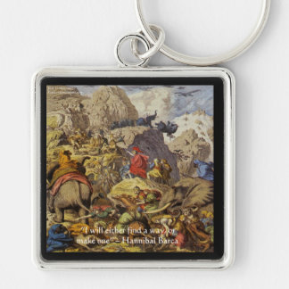 Hannibal Barca & Army & Quote Gifts & Cards Keychain