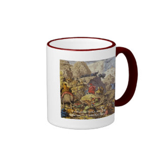 Hannibal Barca & Army & Quote Gifts & Cards Ringer Mug