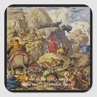 Hannibal Barca & Army & Quote Gifts & Cards Square Sticker