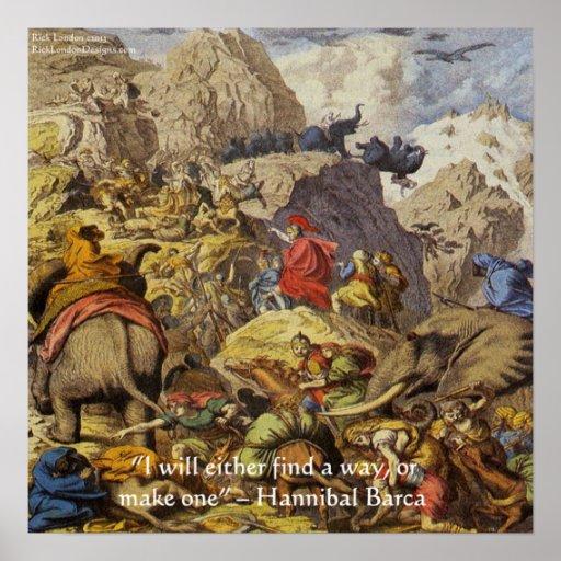 Hannibal Barca en poster de la cita de las
