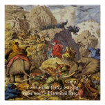 Hannibal Barca In Alps W/Wisdom Quote Poster Print
