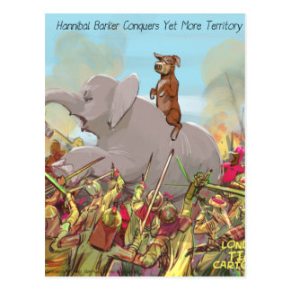 Hannibal Barker Conquers Funny Gifts Tees Mugs Etc Postcard