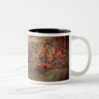Hannibal Crossing the Alps Two-Tone Coffee Mug
