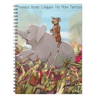 Hannibal divertido Barca conquista la tierra Spiral Notebooks