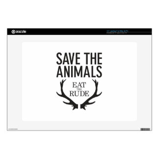 """Hannibal Lecter - Eat the Rude (Save the Animals) 15"""" Laptop Skin"""