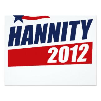 """HANNITY 2012 (2) INVITACIÓN 4.25"""" X 5.5"""""""