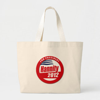 Hannity 2012 button tote bag