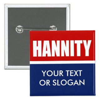 HANNITY 2012 PINBACK BUTTON