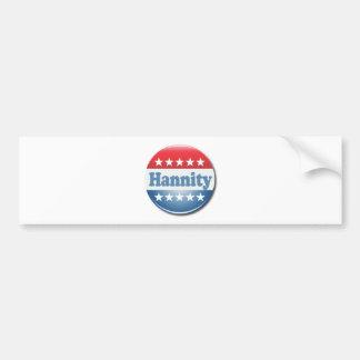 Hannity Button Car Bumper Sticker