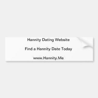 hannity dating website car bumper sticker