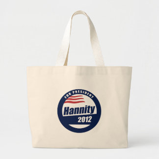 Hannity for President 2012  Canvas Bag