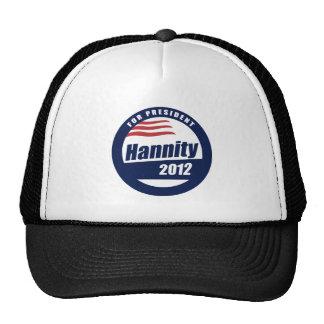 Hannity para el presidente 2012 gorra