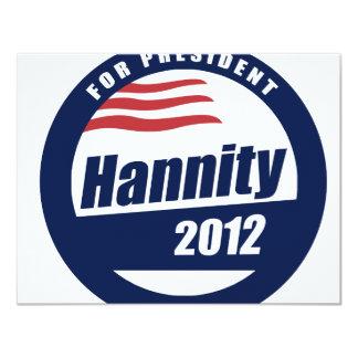 """Hannity para el presidente 2012 invitación 4.25"""" x 5.5"""""""