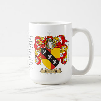 Hannon, the Origin, the Meaning and the Crest Coffee Mug