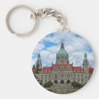 Hannover, nuevo ayuntamiento, Alemania (Hannover) Llavero Redondo Tipo Pin