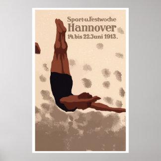 Hannover retra Alemania se divierte el anuncio del Poster