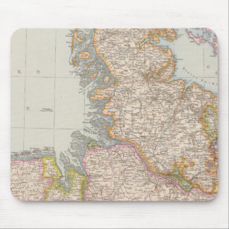 Hannover, SchleswigHolstein, North Germany Map Mouse Pads