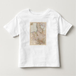 Hannover, SchleswigHolstein, North Germany Map Tee Shirt