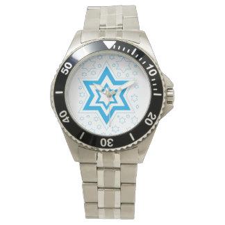 Hannukah-blue Wrist Watch