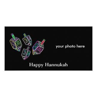 Hannukah Dreidels Photocards. Custom Photo Card