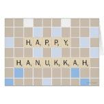 Hannukah feliz tarjeta de felicitación