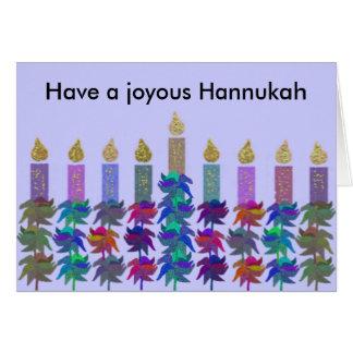 Hannukah Flower Menorah Cards