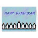Hannukah penguins card