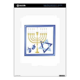 Hannukah Symbols iPad 3 Skins