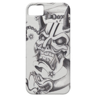 Hannya mask and snake tattoo design iPhone 5 cases
