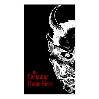 hannya mask business card