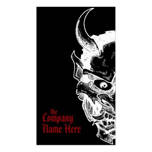 hannya mask business card template