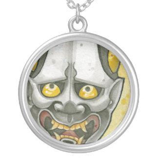 Hannya Round Pendant Necklace