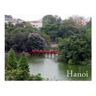 hanoi lake bridge post card