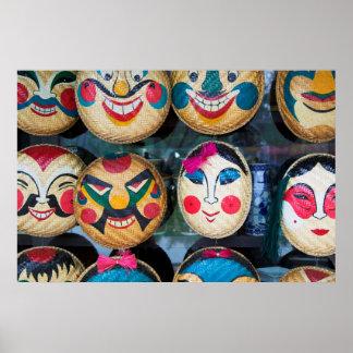 Hanoi Masks At Market Poster