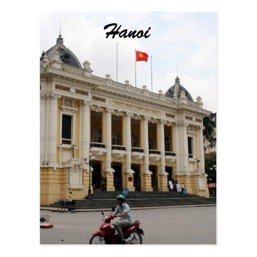hanoi opera postcard