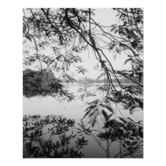 Hanoi opinión de Vietnam, lago Hoan Kiem Póster